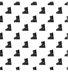 ski boots pattern seamless vector image
