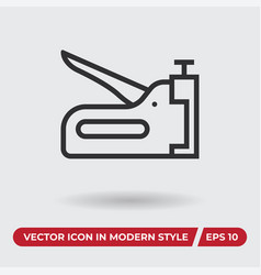 stapler icon in modern style for web site and vector image