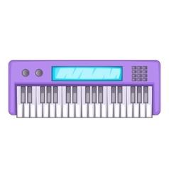 Synthesizer icon cartoon style vector