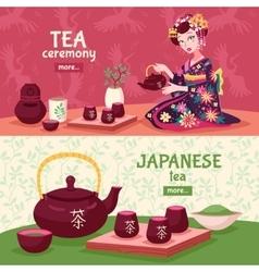 Tea Ceremony Banner Set vector