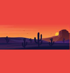 texas or mexican desert panorama landscape vector image
