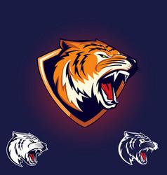 tiger emblem logo vector image