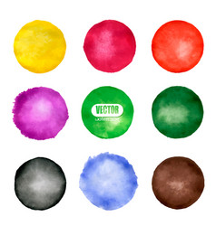 Watercolor circle elements for design vector