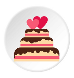 Wedding cake icon circle vector