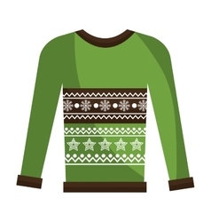 Winter sweater clothes isolated icon vector