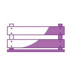 Wooden box icon vector