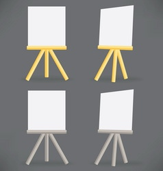 Wooden easel drawing board vector