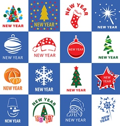 biggest collection of logos for the new year vector image vector image