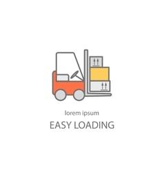 Cargo loader logotype design vector image