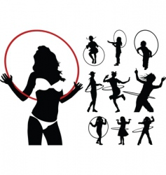hula hoop collection vector image