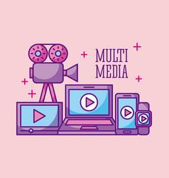 multimedia technology device digital wireless vector image