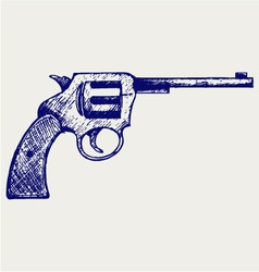 Old pistol vector image vector image