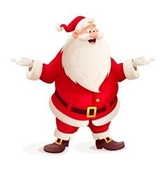 Santa claus throw up hands vector image vector image