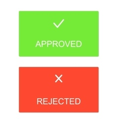 Approved rejected interface dialog box icons icon vector image