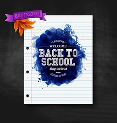 Back to school card Chalkboard typography design vector image vector image