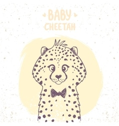 cheetah baby vector image