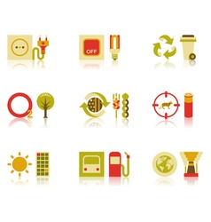Saving Natural Resources Icon Set vector image