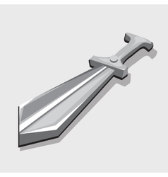 Silver sword three-dimensional image toy style vector
