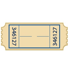 Paper ticket vector image vector image