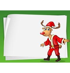 Reindeer card vector image vector image