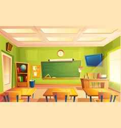 school classroom interior training room vector image