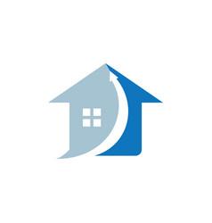 Home arrow up logo vector