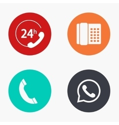 modern phone colorful icons set vector image