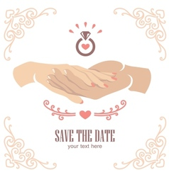 Proposal hand vector image