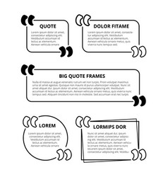 quote frames vector image