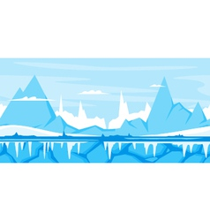 Winter Mountain Game Background vector image vector image
