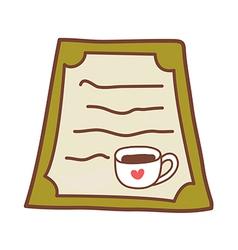 A menu vector