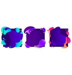 Abstract shapes frames modern fluid gradient vector
