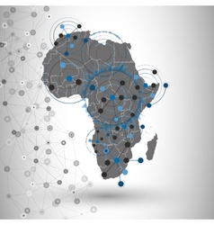 Africa map background for communication vector image