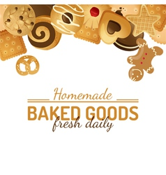 Background with cookies vector