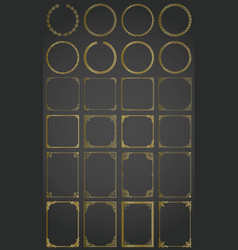 big gold set decorative rectangle square vector image
