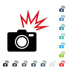 Camera flash icon vector