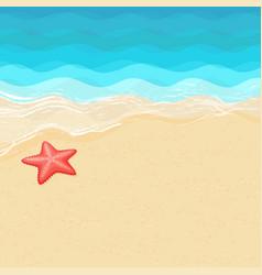 Cartoon starfish on sea shore vector