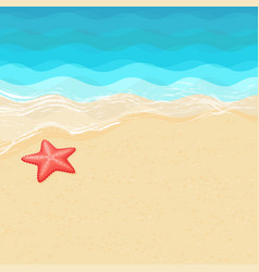 Cartoon starfish on the sea shore vector