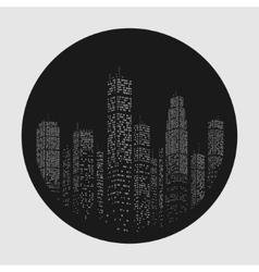City Skyscraper Emblem vector image