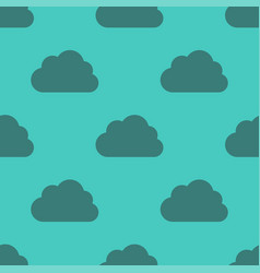 clouds weather seamless pattern background dark vector image