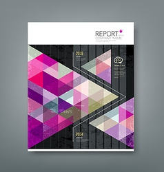 Cover report triangle geometry purple vector image