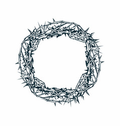 crown of thorns of jesus christ vector image