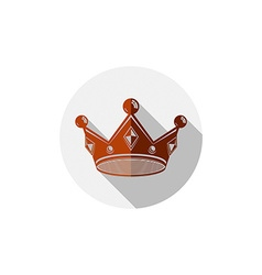 Decorative imperial 3d icon isolated on white King vector
