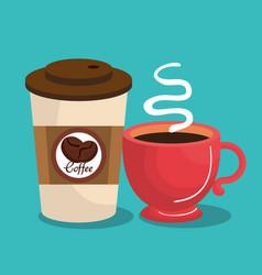 Delicious coffee cup icon vector