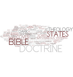 Doctrine word cloud concept vector