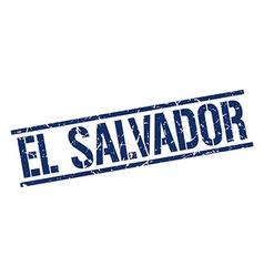 El Salvador blue square stamp vector