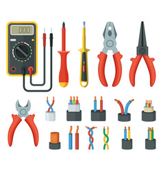 Electrical cable wires and different electronic vector
