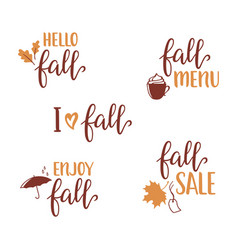 fall lettering set vector image