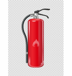 Fire extinguisher on transparent background vector