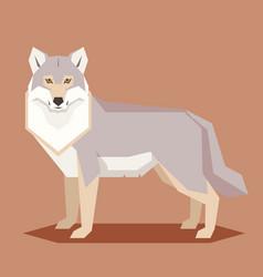 flat geometric wolf vector image